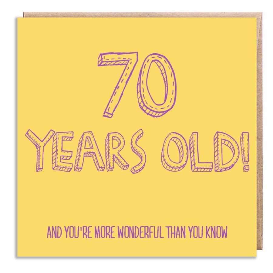70 wonderful