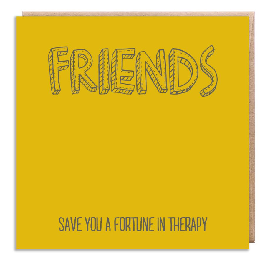 friends therapy yellow