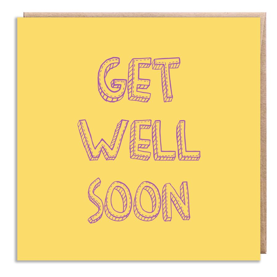 get well soon yellow