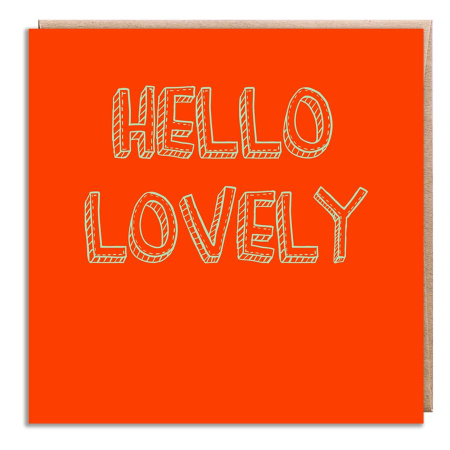 hello lovely orange