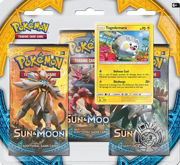 Sun & Moon Base Set Togedemaru 3 Pack Blister
