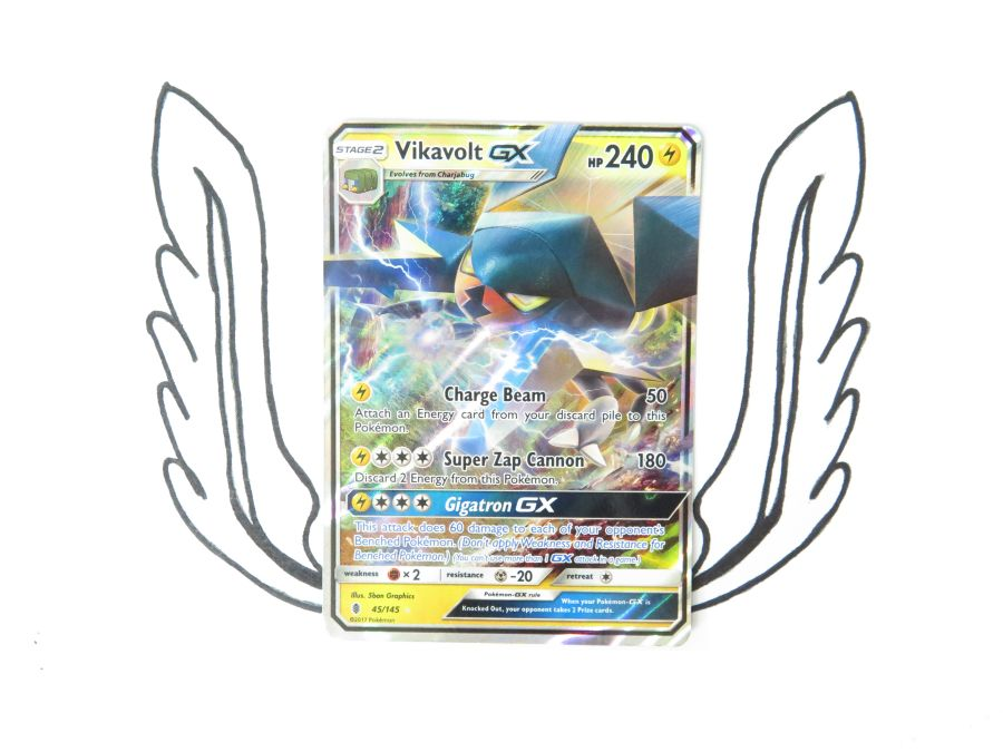Sun & Moon Guardians Rising Vikavolt GX - 045/145 - Single Card