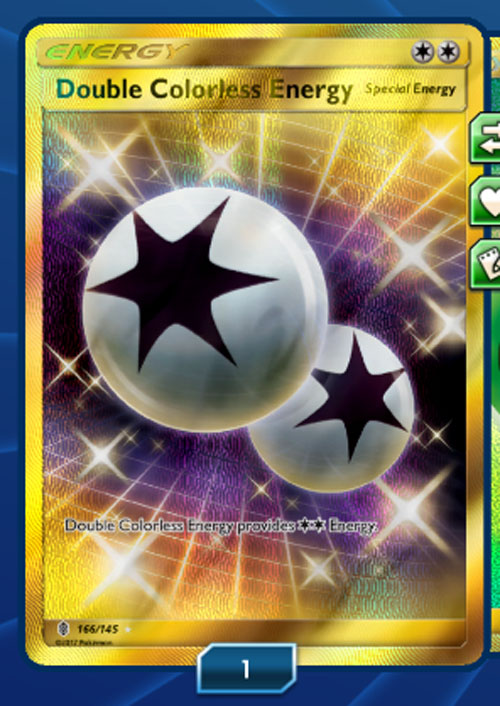 TCGO Digital Online Sun & Moon Guardians Rising Double Colorless Energy 166/145 Online Card