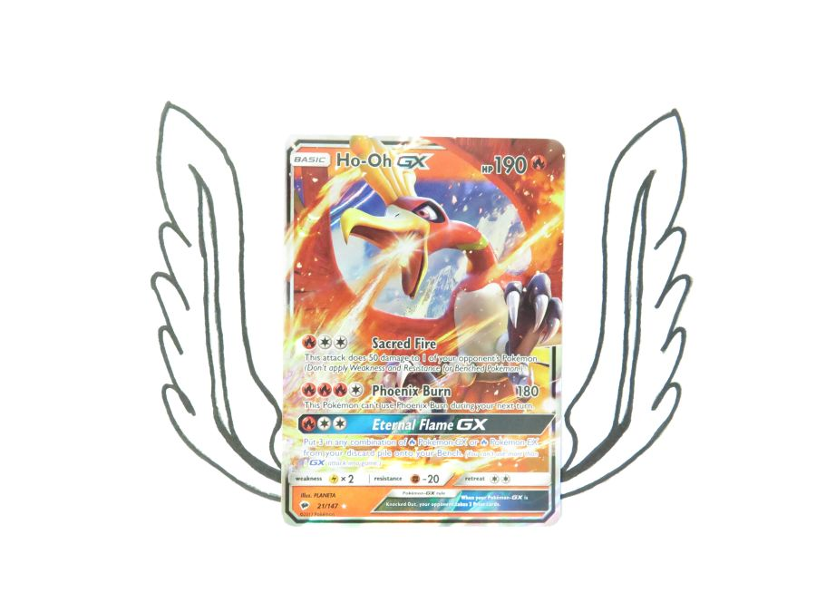 Sun & Moon Burning Shadows Ho-Oh GX - 21/147 - Single Card