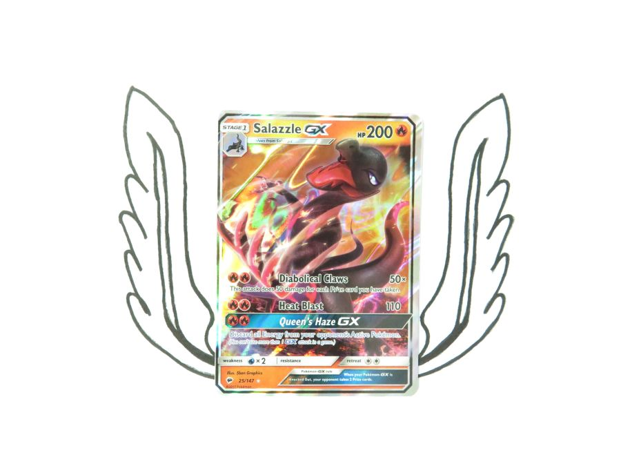 Sun & Moon Burning Shadows Salazzle GX - 25/147 - Single Card