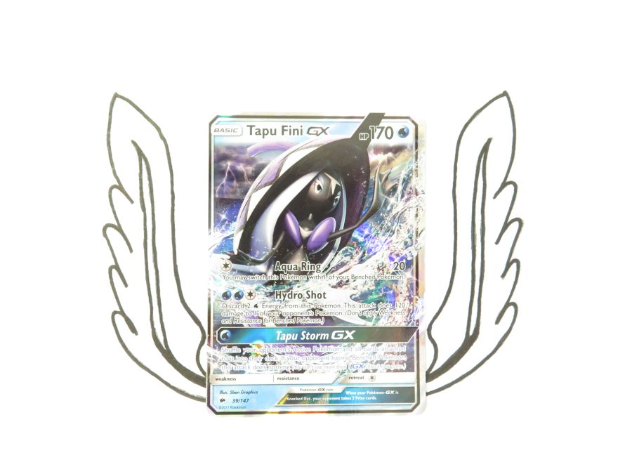 Sun & Moon Burning Shadows Tapu Fini GX - 39/147 - Single Card