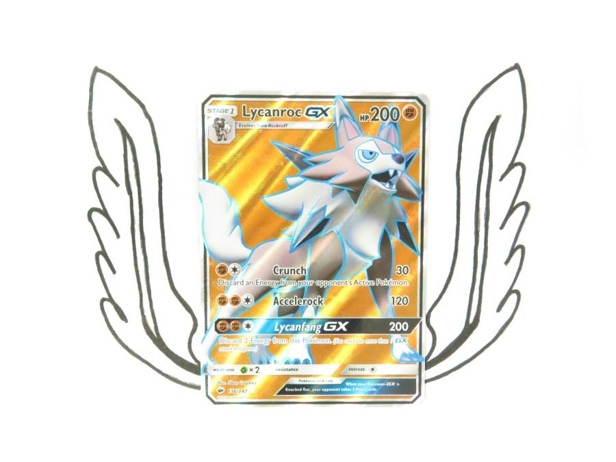 Sun & Moon Burning Shadows Lycanroc GX - 136/147 - Single Card