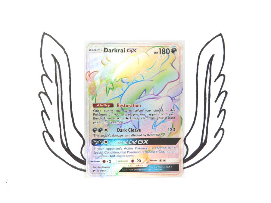 Sun & Moon Burning Shadows Rainbow Rare Darkrai GX - 158/147 - Single Card