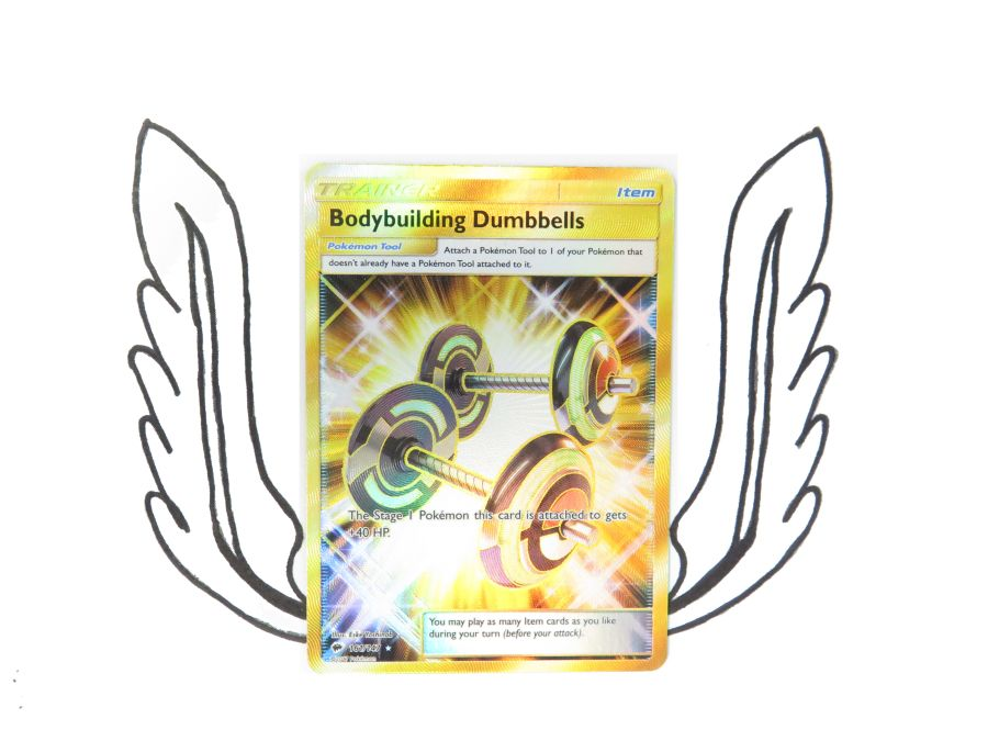 Sun & Moon Burning Shadows Rainbow Rare Trainer Bodybuilding Dumbbells - 161/147 - Single Card