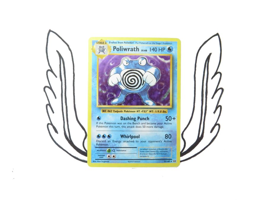 XY Evolutions Poliwrath Holo - 025/108 - Single Card