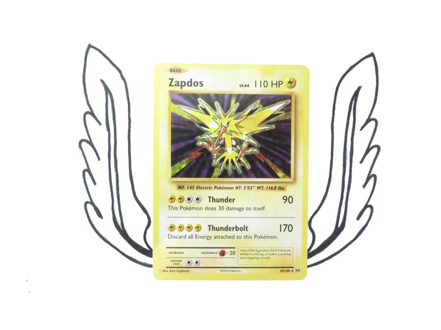 XY Evolutions Zapdos Holo - 042/108 - Single Card