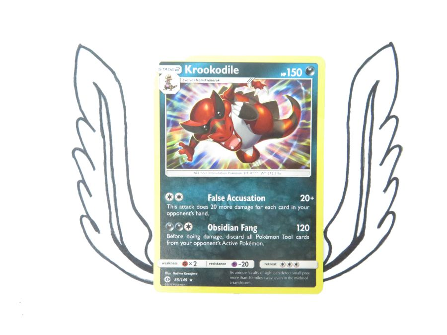Sun & Moon Base Set Krookodile Holo - 085/149 - Single Card