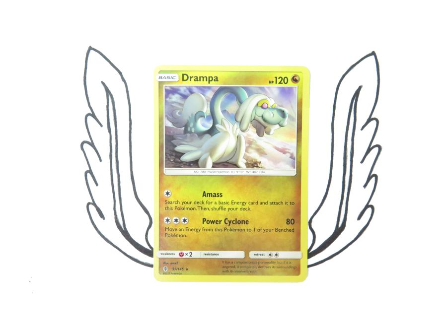 Sun & Moon Guardians Rising Drampa Holo - 097/145 - Single Card