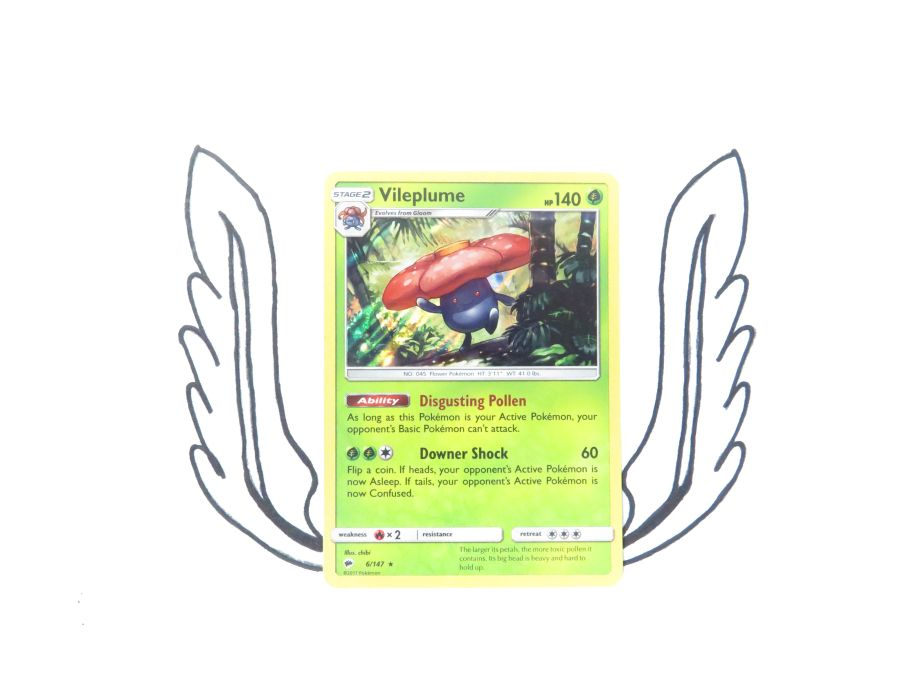 Sun & Moon Burning Shadows Vileplume Holo - 006/147 - Single Card