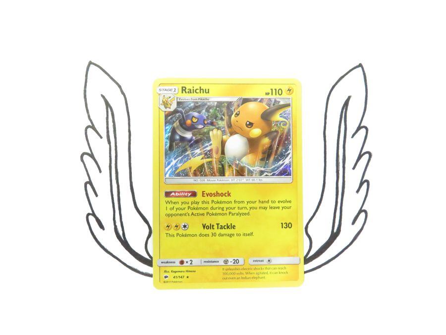 Sun & Moon Burning Shadows Raichu Holo - 041/147 - Single Card