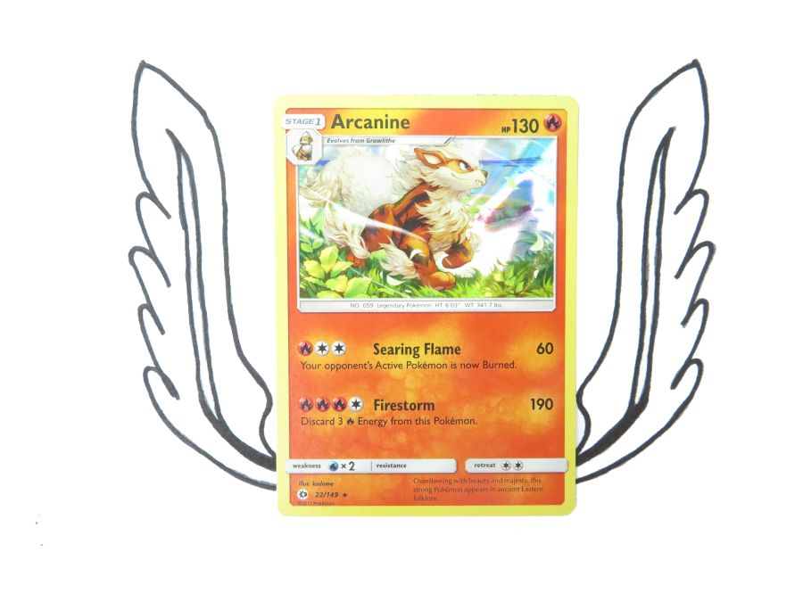 Sun & Moon Base Set Arcanine Holo - 022/149 - Single Card