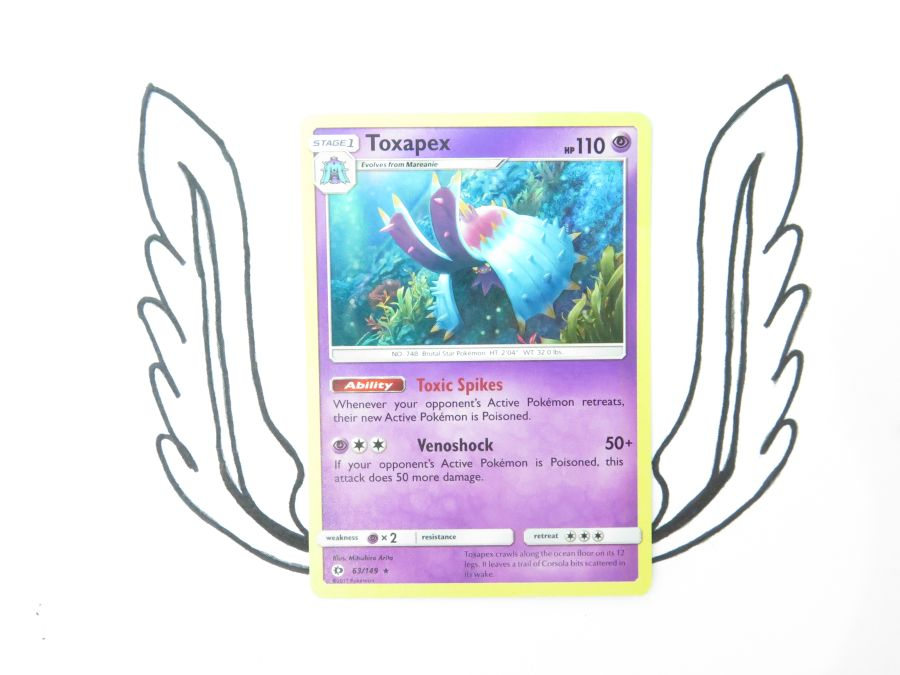 Sun & Moon Base Set Toxapex Holo - 063/149 - Single Card