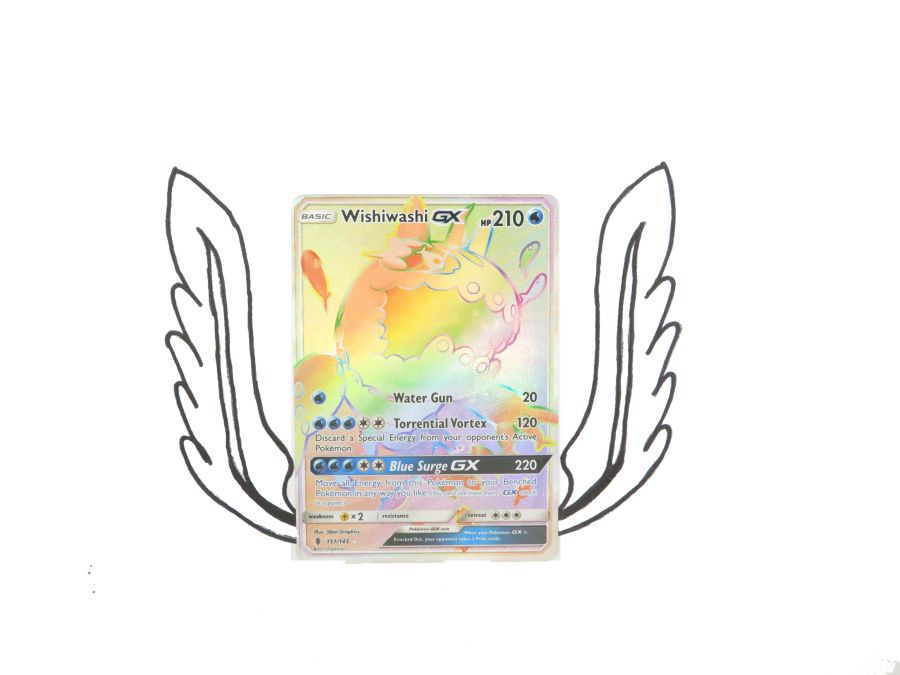 Sun & Moon Guardians Rising Rainbow Rare Wishiwashi GX - 151/145 - Single Card