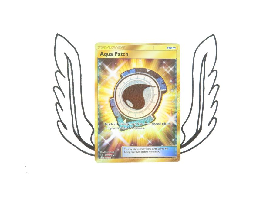 Sun & Moon Guardians Rising Ultra Rare Trainer Aqua Patch - 161/145 - Single Card