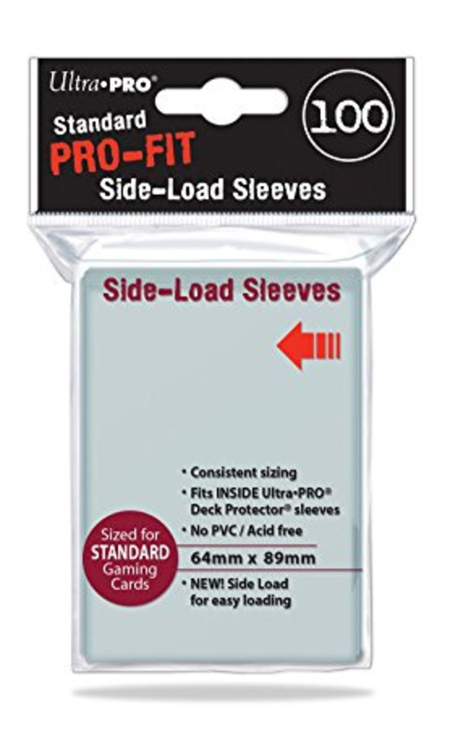 (500) ULTRA PRO PRO-FIT Side Loading Inner Card Sleeves Standard Deck Size (100) x 5