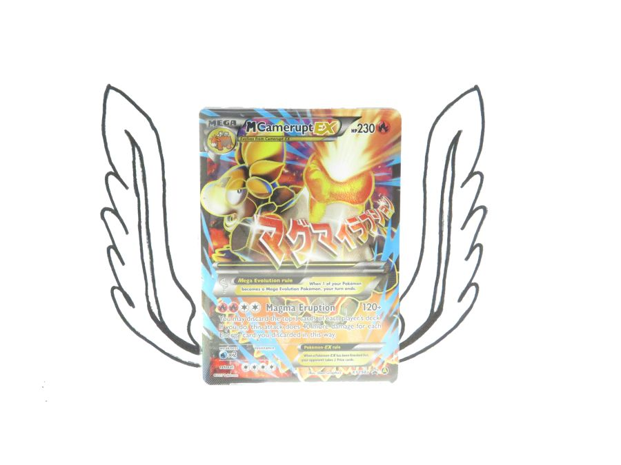 XY Premium Trainers Collection M Camperupt EX XY198a Pokemon Card! NR Mint!