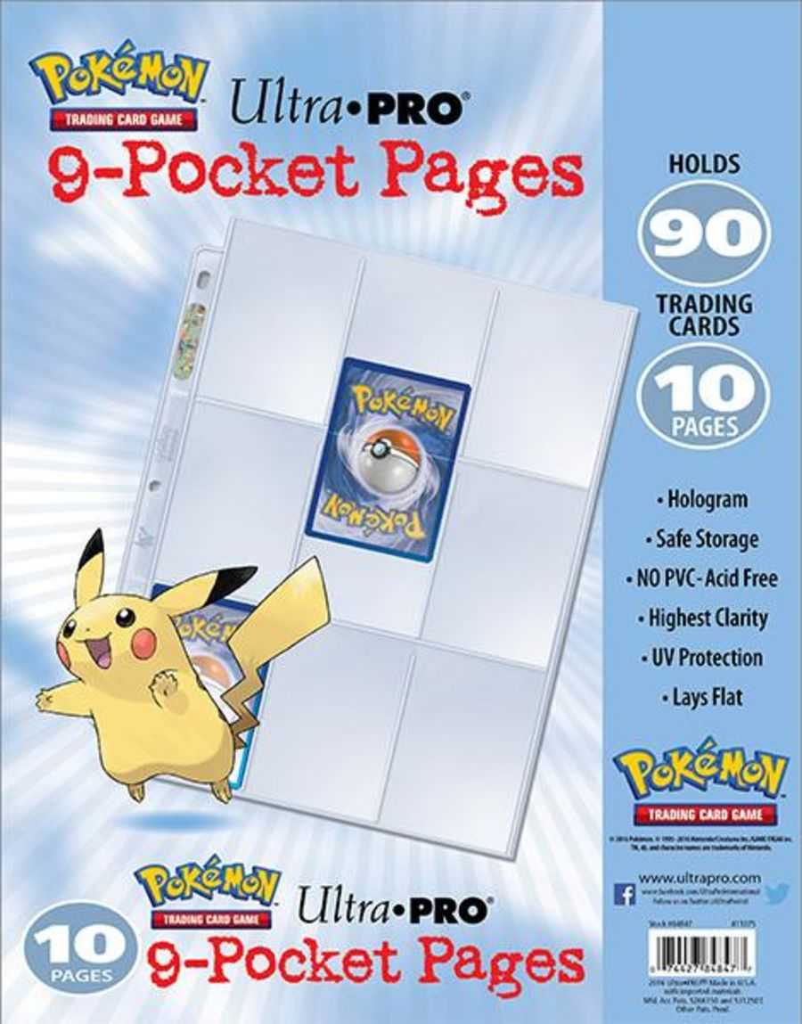 Ultra Pro - Pokemon - 9 Pocket Pages (10 Pages)