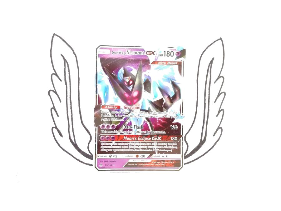 Pokemon - Sun & Moon Ultra Prism Dawn Wings Necrozma GX 63/156 - Single Card
