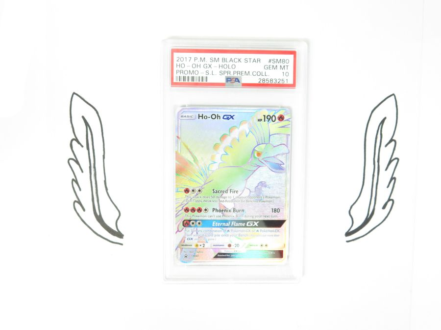PSA 10 - Shining Legends Promo Rainbow Rare Ho-Oh SM80 Gem Mint Pokemon Card