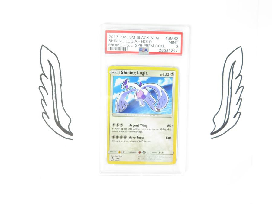 PSA 9 - Shining Legends Promo Shining Lugia SM82 Mint Pokemon Card