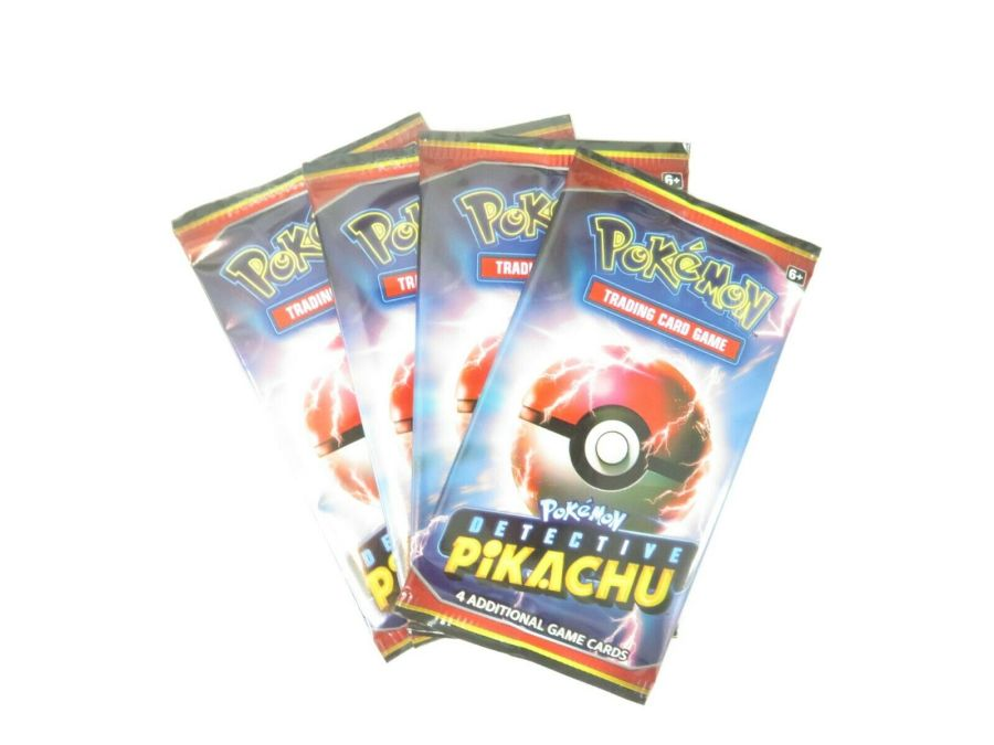 4 x Pokemon Detective Pikachu Booster Packs