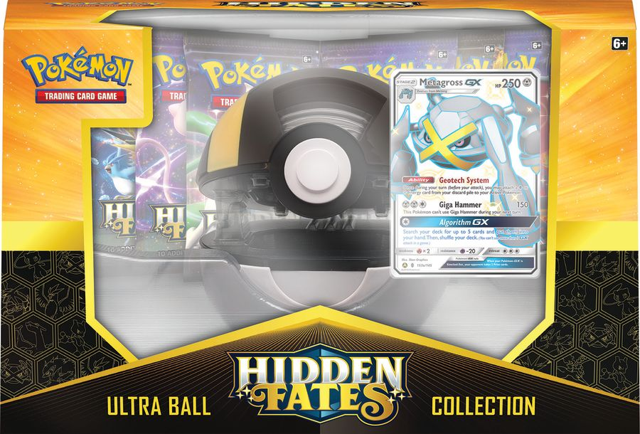 Pokemon - Hidden Fates Poke Ball Collection - Shiny Metagross-GX