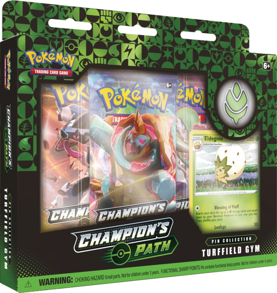 Pokemon - Champions Path - Turfield Gym Pin Collection