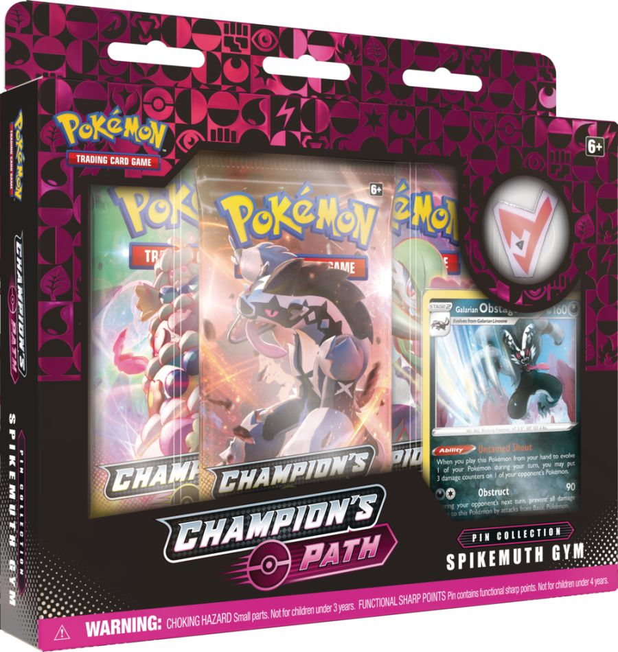 Pokemon - Champions Path - Spikemuth Gym Pin Collection