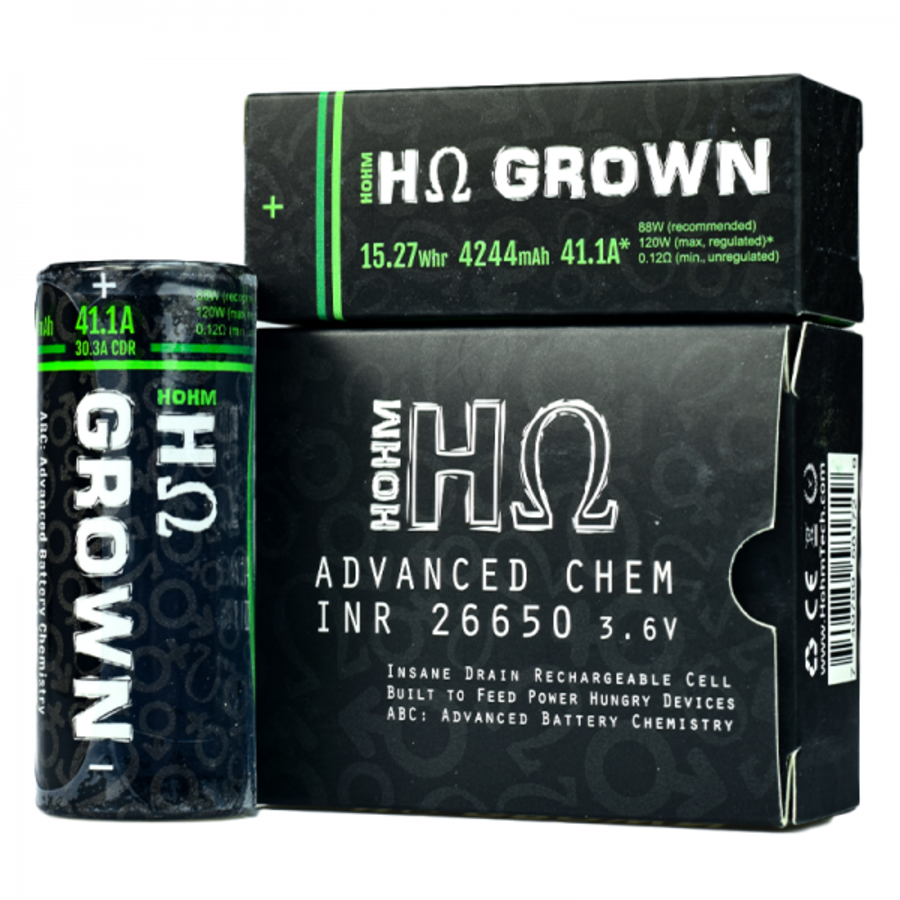 Hohm Grown 2 26650 Battery By Hohm Tech