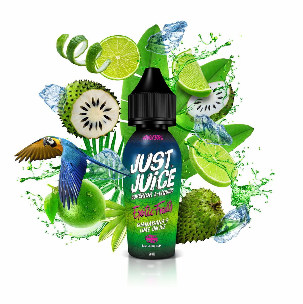 Guanabana Lime On Ice By Just Juice Exotic Range 50ml Shortfill