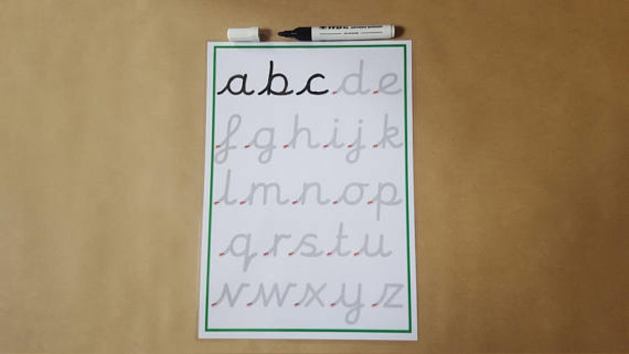 Tracing Cursive Letters, Formation Mat