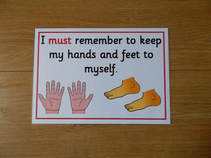 I can keep my hands and feet to myself - Poster