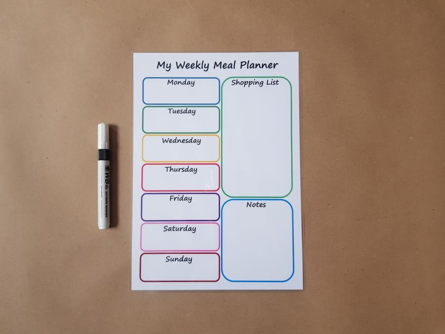Weekly Planner and Shopping List