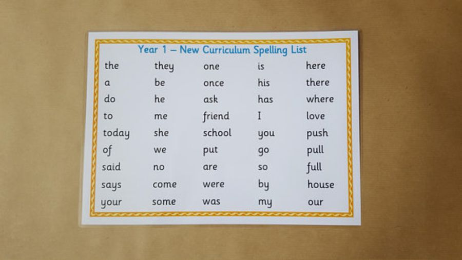 Year 1 New Curriculum Word Mat