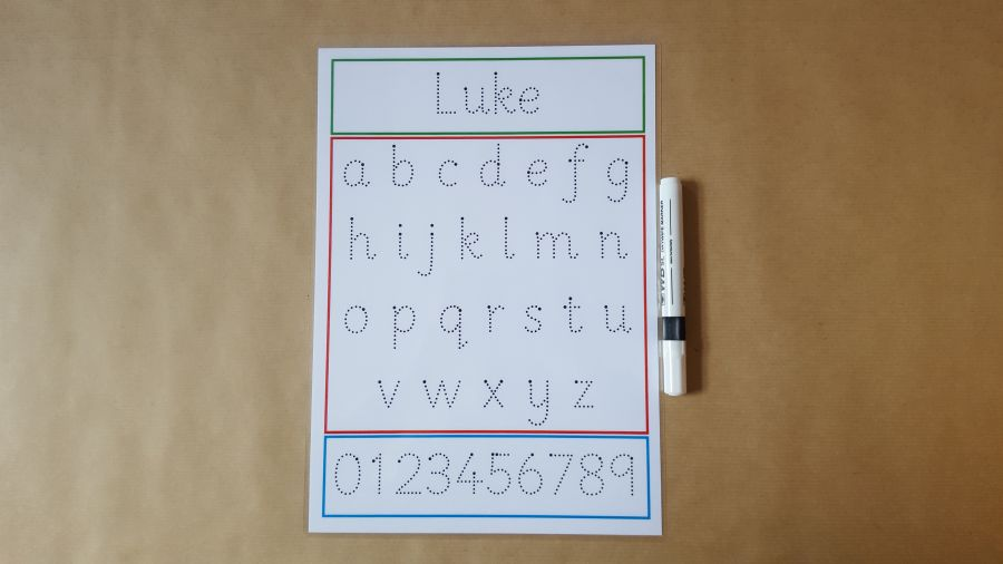 Tracing Letters,Tracing numbers, Name tracing Formation Mat
