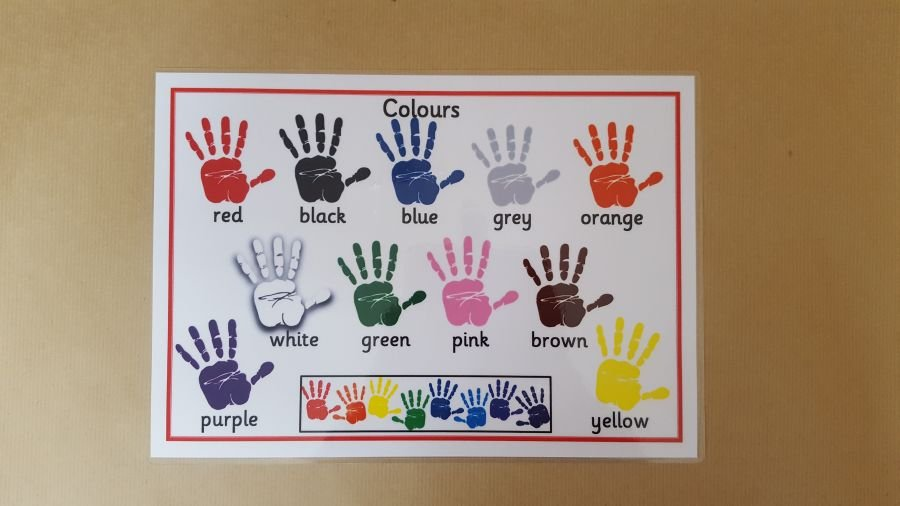 Colours Hand Prints Poster