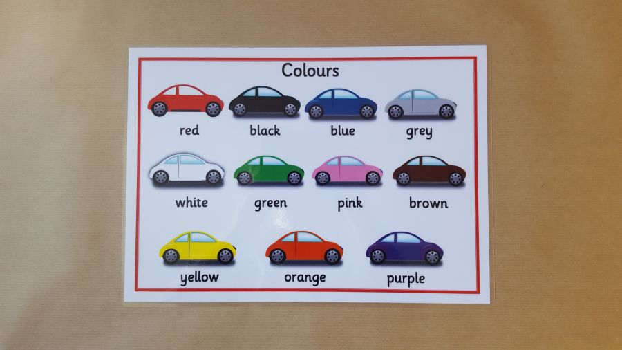 Colours Cars Poster