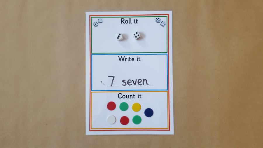 Roll it, Write it, Count it, Numeracy Game