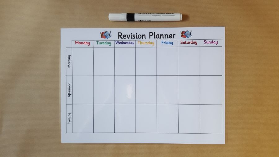 Weekly Exam Revision Time Table -Weekly Planner