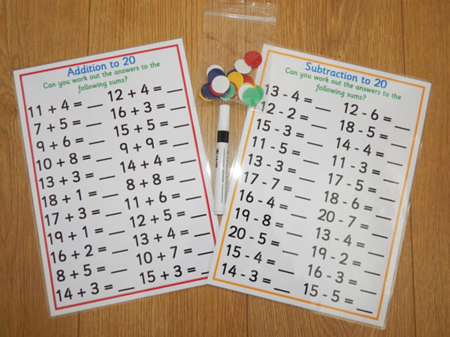 Numbers 0-20, Addition & Subtraction