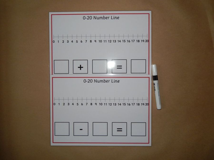 0-20 Number lines, Addition, Subtraction