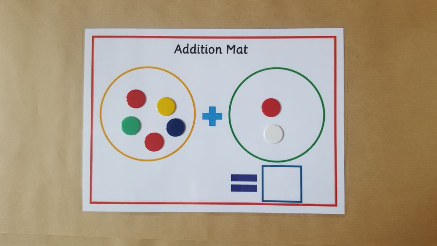 Addition Mat, Pen and Counters