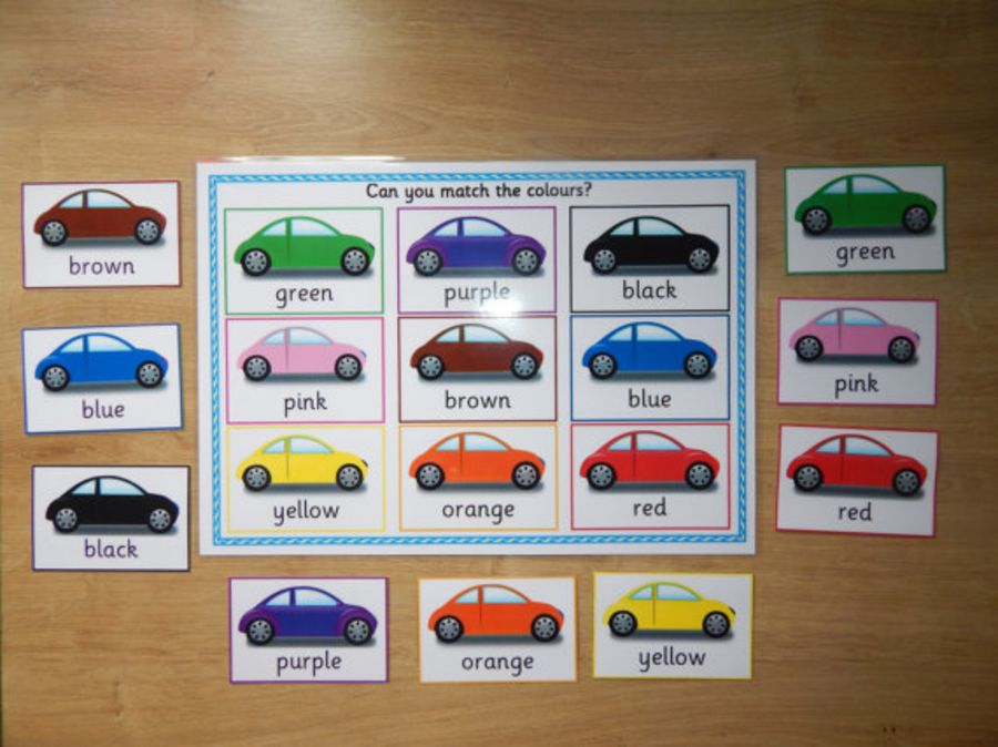 Colour Matching Game - Cars