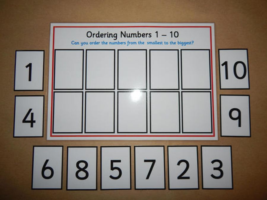 Number Ordering Game 1-10