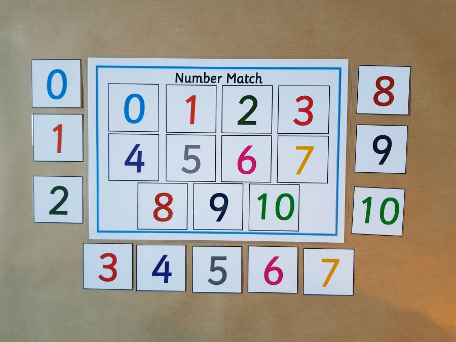 0-10 Number Matching Game